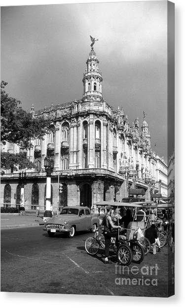 Prado Canvas Print - Paseo Del Prado And Grand Theater Havana by James Brunker