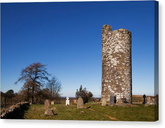 Early Christian Art Canvas Print - Old Kilcullen Round Tower, County by Panoramic Images