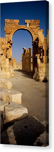 Syrian Canvas Print - Old Ruins On A Landscape, Palmyra, Syria by Panoramic Images