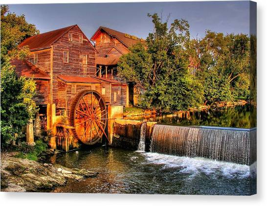 Old Water Mill Canvas Print