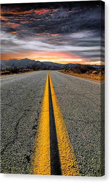 Sunset Canvas Print - On Our Way  by Ryan Weddle