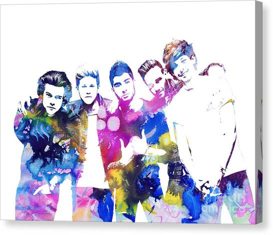 One Direction Canvas Print - One Direction by Doc Braham