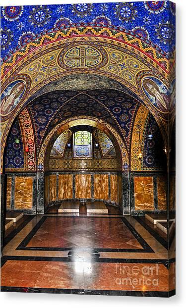 Orthodox Art Canvas Print - Orthodox Church Interior by Elena Elisseeva