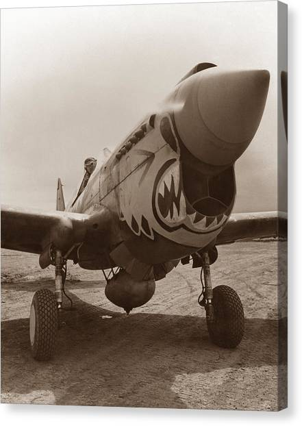 United States Army Air Corps Canvas Print - P-40 Warhawk by War Is Hell Store