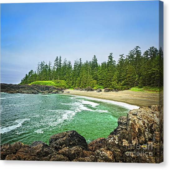 Vancouver Island Canvas Print - Pacific Ocean Coast On Vancouver Island by Elena Elisseeva