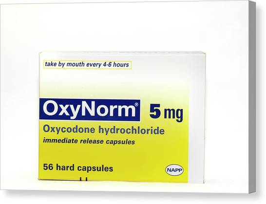 Pack Of Oxynorm Capsules Canvas Print by Dr P. Marazzi/science Photo Library