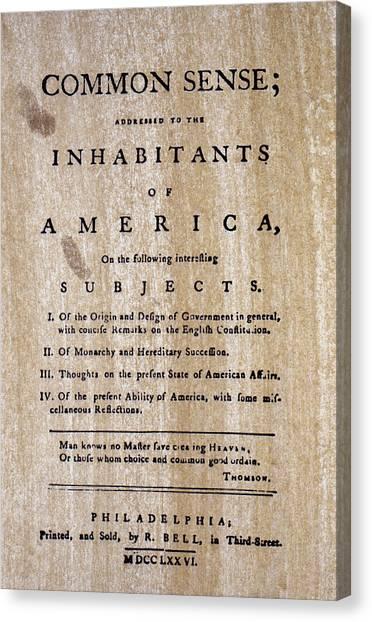 American Independance Canvas Print - Paine: Common Sense, 1776 by Granger