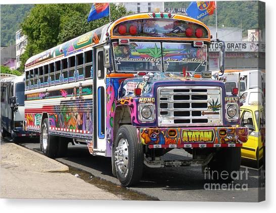 Panama Antigua Bus Canvas Print