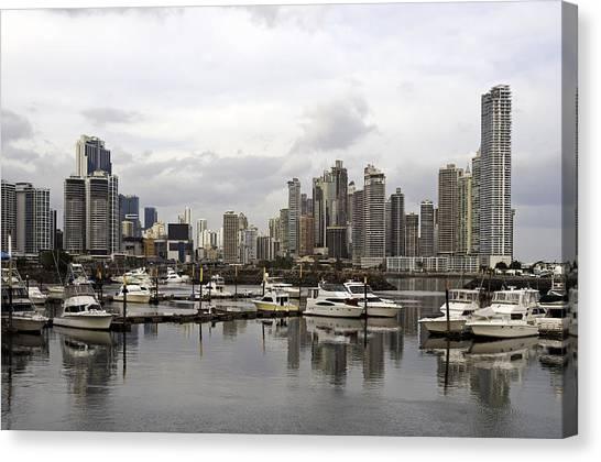 Panama City Skyline. Panama. Canvas Print by Fernando Barozza