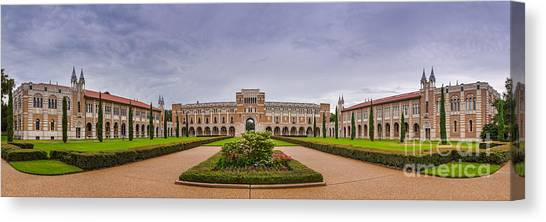 Byzantine Art Canvas Print - Panorama Of Rice University Academic Quad - Houston Texas by Silvio Ligutti