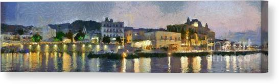 Panoramic View Of Spetses Town Canvas Print