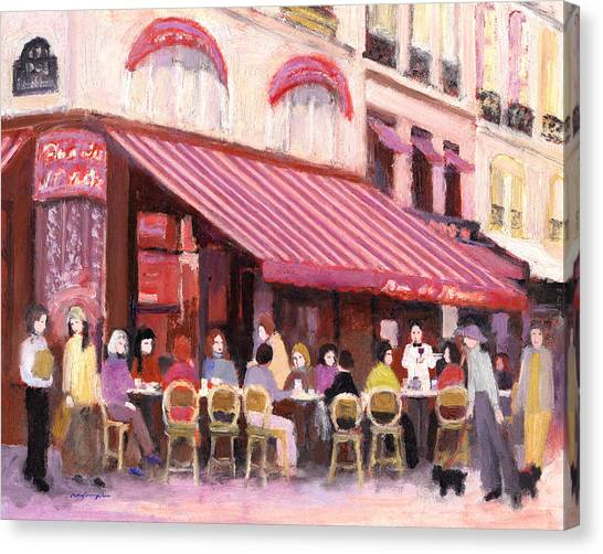 Paris Cafe Bar Canvas Print