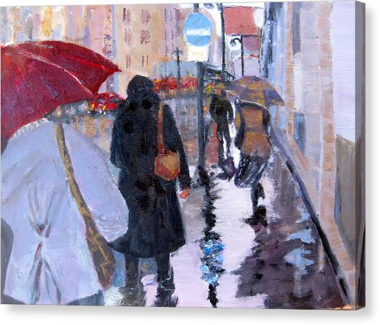 Paris In The Rain Canvas Print