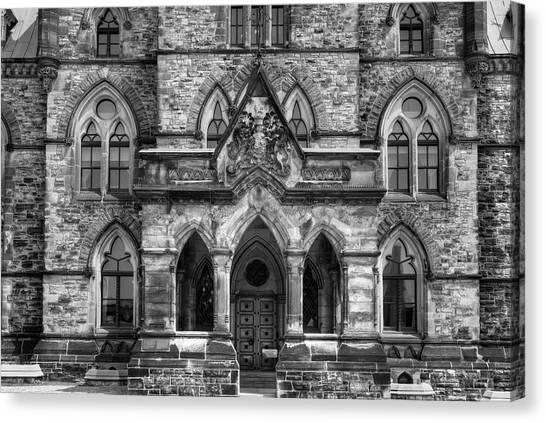 Parliament Hill Canvas Print - Parliament Buildings  Ottawa, Ontario by David Chapman