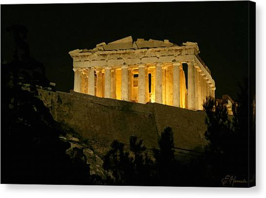 The Acropolis Canvas Print - Parthenon by Ellen Henneke