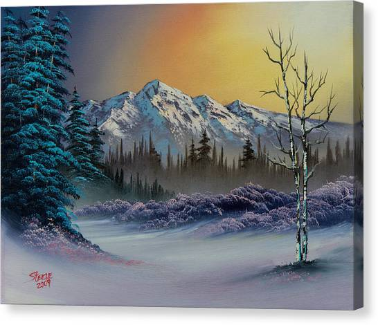 Bob Ross Canvas Print - Frosty Enchantment by Chris Steele
