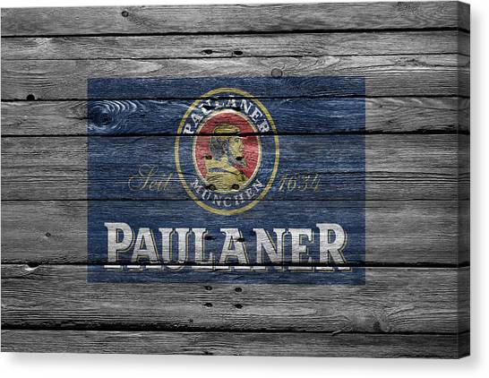 Beer Can Canvas Print - Paulaner by Joe Hamilton