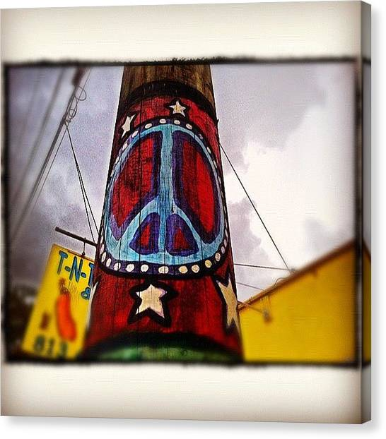 Florida Canvas Print - Peace Pole by Scott Pellegrin