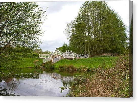 Canvas Print - peaceful nature area with river and bridge in the English countr by Fizzy Image