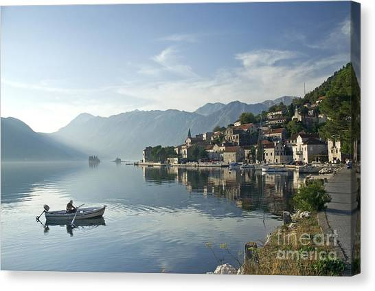 Perast Village In Montenegro Canvas Print