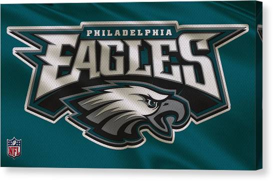 Nfl Canvas Print - Philadelphia Eagles Uniform by Joe Hamilton