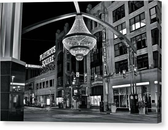 Cleveland State University Canvas Print - Playhouse Square by Frozen in Time Fine Art Photography