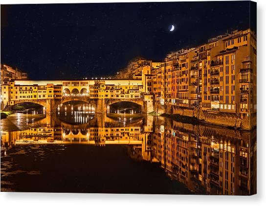 Ponte Vecchio Nightscape Canvas Print