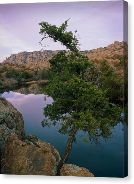 Post Oak Lake And Elk Mountain Canvas Print