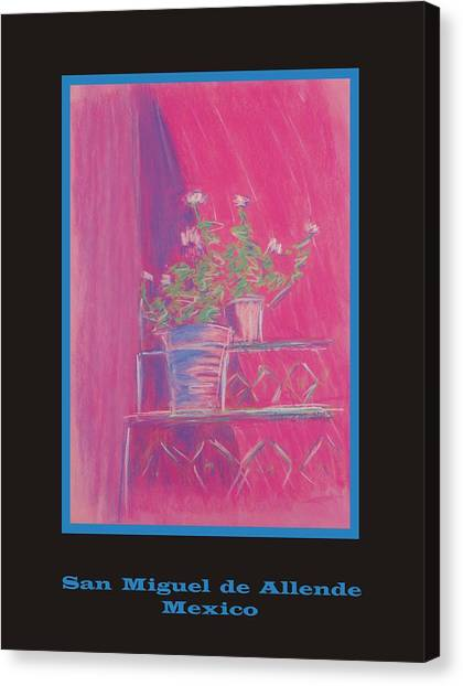 Poster - Pink Geranium Canvas Print by Marcia Meade