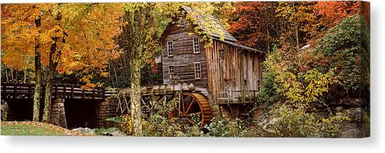 Grist Canvas Print - Power Station In A Forest, Glade Creek by Panoramic Images