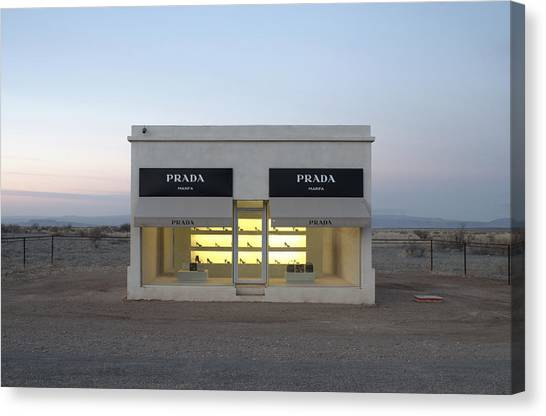 Fashion Canvas Print - Prada Marfa by Greg Larson