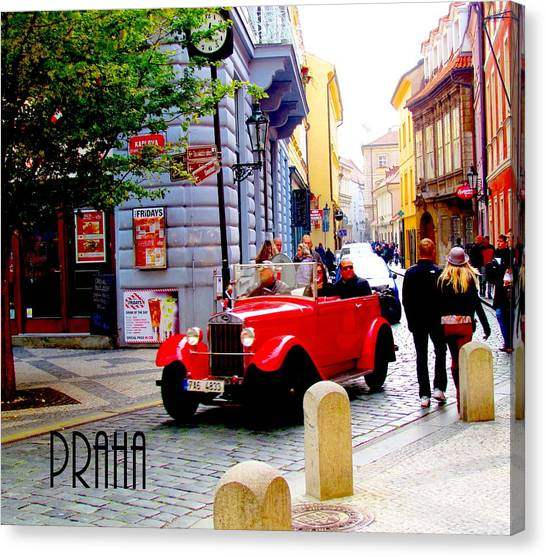 Prague Canvas Print - Prague Street Scene by Elaine Weiss