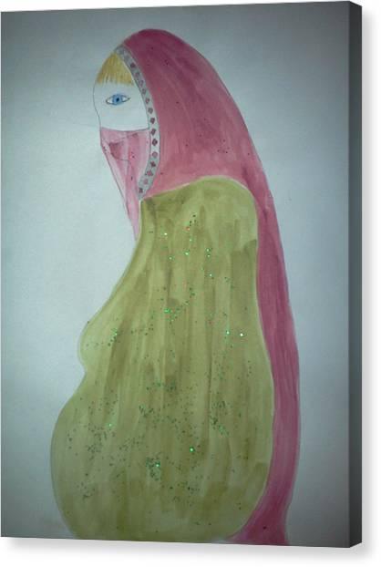 Praying Woman Canvas Print by Karen Jensen