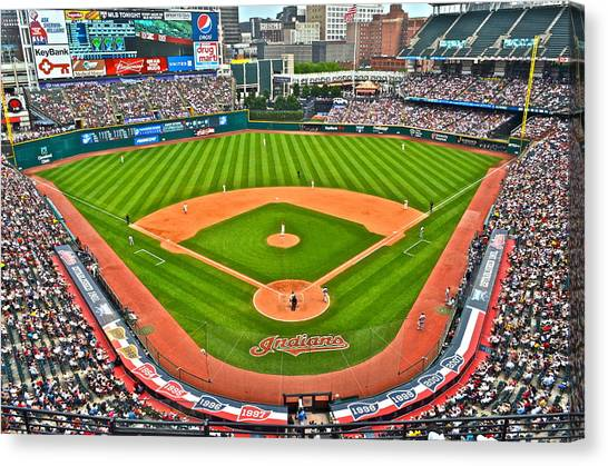 Strikeout Canvas Print - Progressive Field by Frozen in Time Fine Art Photography
