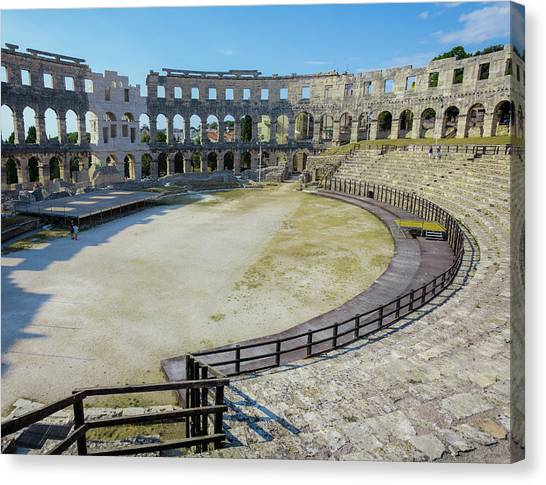 The Amphitheatre Canvas Print - Pula, Istria County, Croatia. The Roman by Panoramic Images
