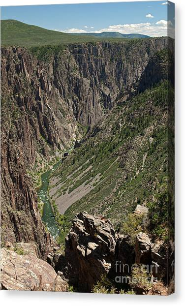 Pulpit Rock Overlook Black Canyon Of The Gunnison Canvas Print