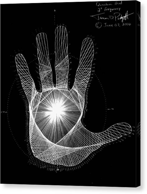 Fractal Canvas Print - Quantum Hand Through My Eyes by Jason Padgett