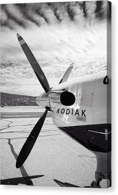 Prop Planes Canvas Print - Quest Kodiak Aircraft by Daniel Hagerman