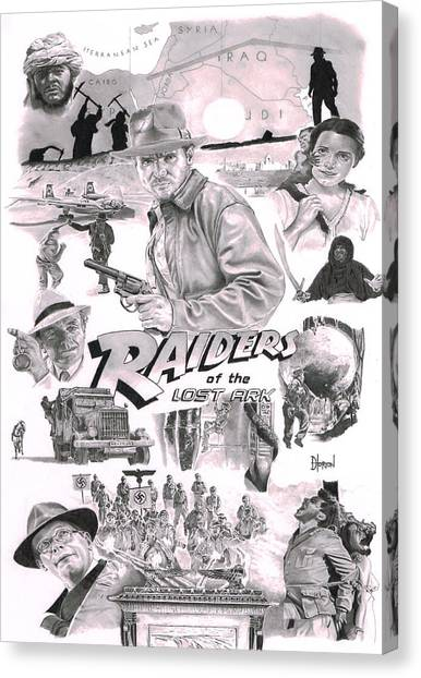 Raiders Of The Lost Ark Canvas Print - Raiders by David Horton