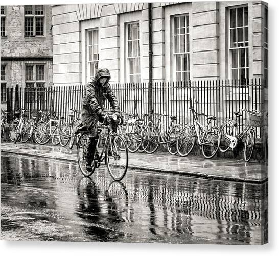 Rainy Day Ride Canvas Print