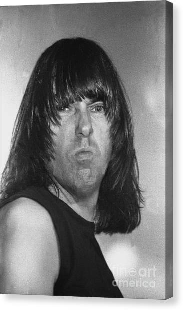 Ramones Canvas Print - Ramones - Johnny Ramone by Concert Photos