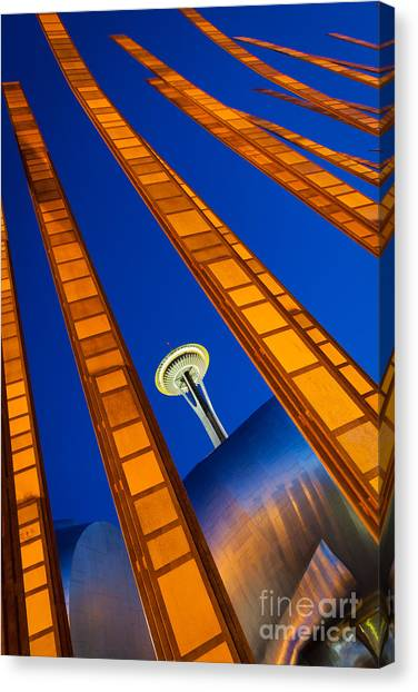 Space Needle Canvas Print - Reach For The Sky by Inge Johnsson