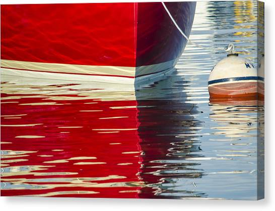 Red Boat Canvas Print