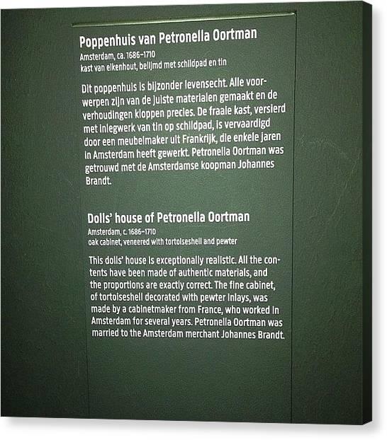 Rijksmuseum Canvas Print - #rijksmuseum by Valentin Vesa