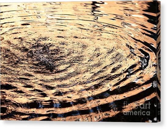 Ripple Reflection In Fountain Water Canvas Print