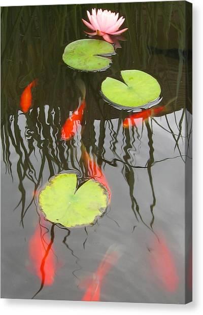 Rippled Reeds Canvas Print