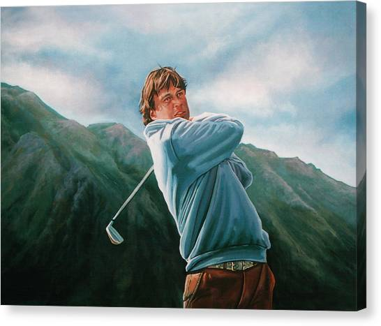 Golf Canvas Print - Robert Jan Derksen by Paul Meijering