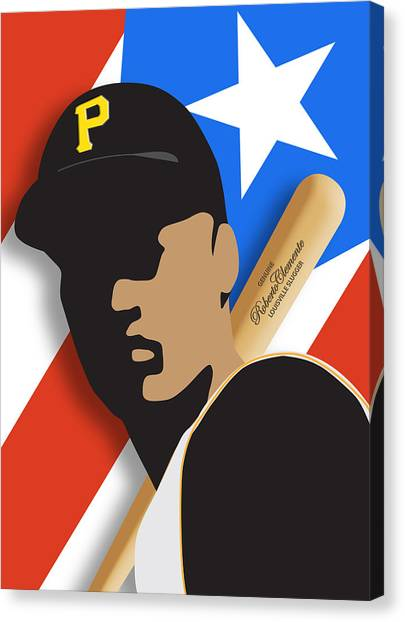 Pittsburgh Pirates Canvas Print - Roberto Clemente by Ron Regalado