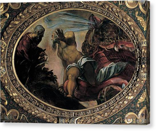 Red School House Canvas Print - Robusti Jacopo Known As Tintoretto by Everett