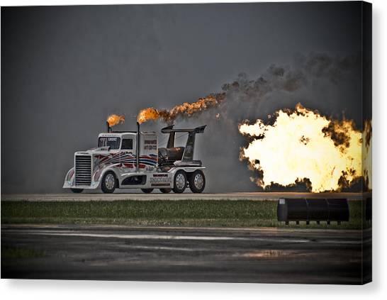 Rocket Truck Canvas Print